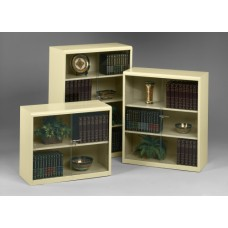 Tennsco Executive Bookcases with Locking Glass Doors
