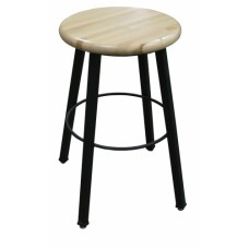 Wisconsin Bench Square Tube 4-Legged Hardwood Stool