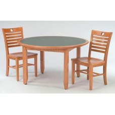 Brodart Chancellor's Circular Table with Chamfered Legs