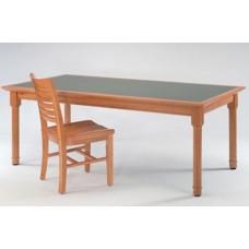 Brodart Chancellor's Rectangular Table with Round Legs