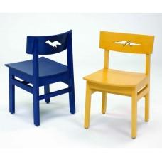 Brodart Horizons Wooden Chairs with Dinosaur Cutout