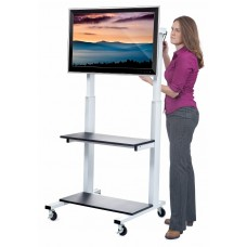 Luxor/H.Wilson Crank Adjustable Flat Panel TV Cart
