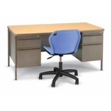Smith System Planner Teachers Desks - Double Pedestal